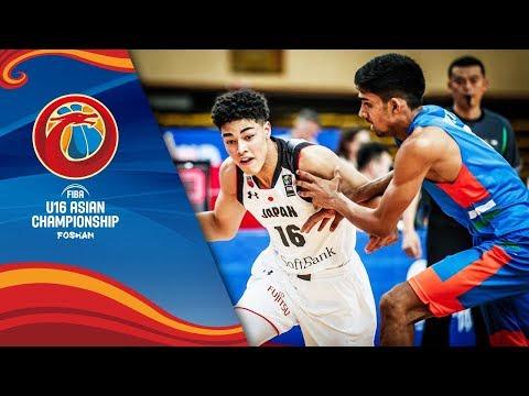Japan V India - Full Game - FIBA U16 Asian Championship