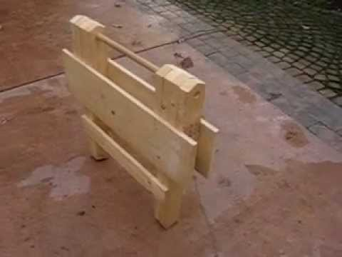 FOLDING WOODEN WORK TABLE PART 1 OF 9 - YouTube