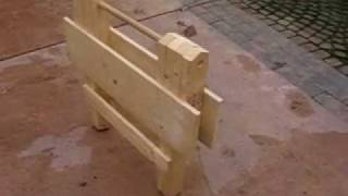 Folding Wooden Work Table Part 1 Of 9