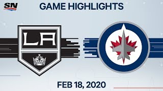 NHL Highlights | Kings vs Jets - Feb. 18, 2020