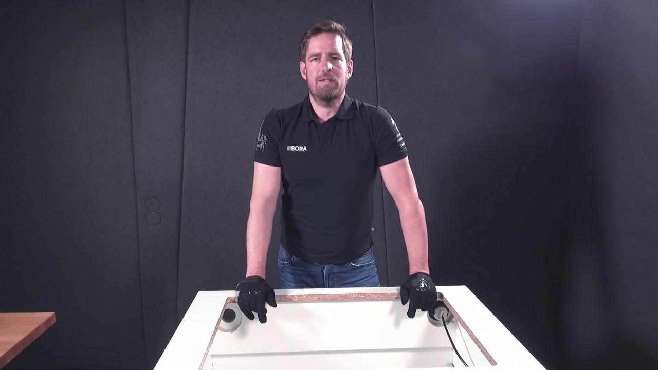 BORA Basic Montage-Tutorial Teil 2: Vorbereitung des Möbels Teil 1 -  Ausschnitt und Rückwand