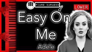 Easy On Me (LOWER -3) - Adele - Piano Karaoke Instrumental