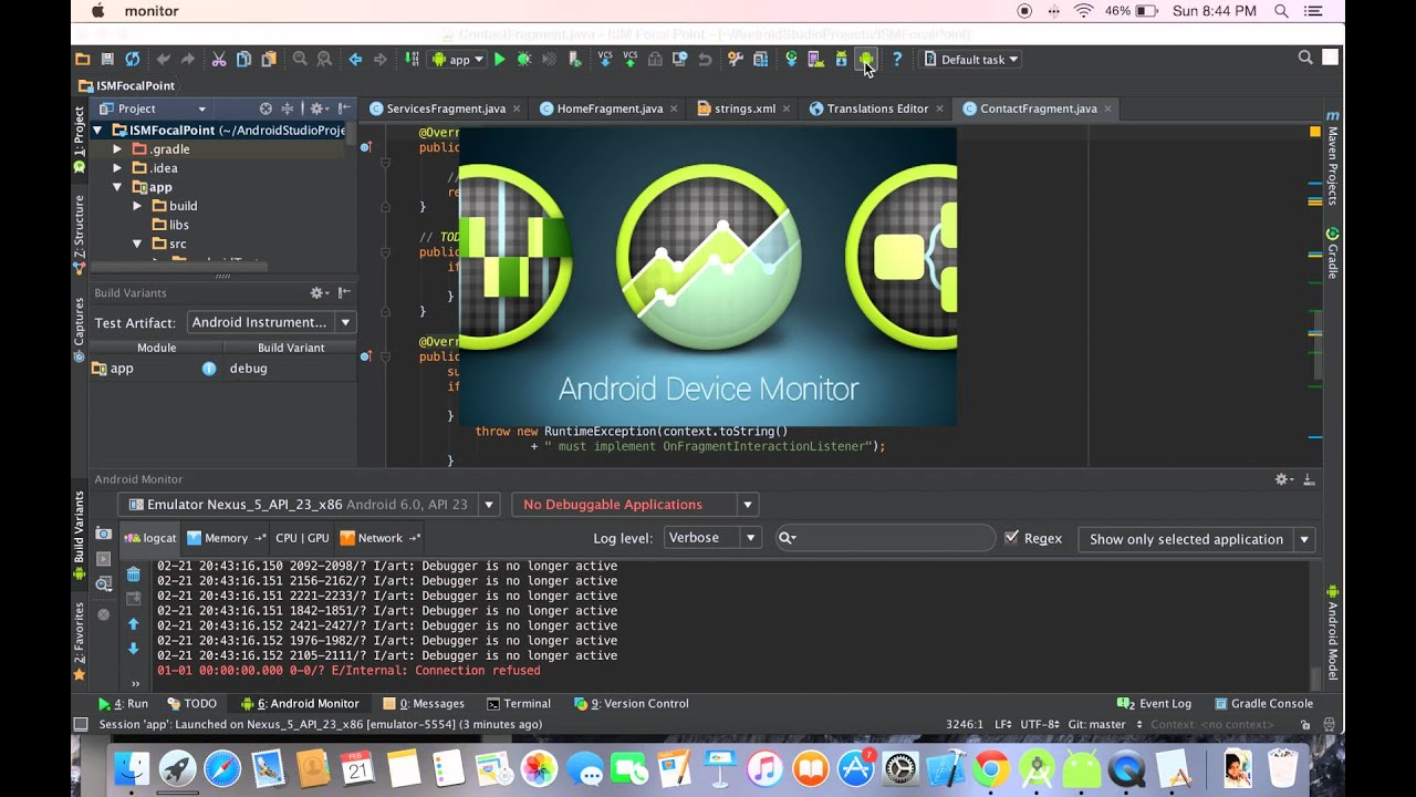 How to reset adb tool from Android Studio? (Quick version with Audio)