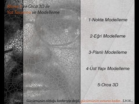 Rhino 5 ve Orca 3D ile Yat ve Gemi Tasarımı Plaka Modelleme 1