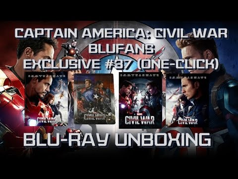Captain America: Civil War - Blufans Exclusive #37 - ONE CLICK - (FULL SLIP, LENTICULAR, 1/4 SLIP)