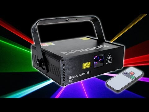 Beamz Galatea RGB DMX 600mW Pro Laser Light DJ Disco Party Club Stage Lighting Effect