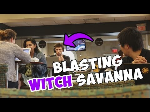 Blasting WITCH SAVANNA in the Library Prank!