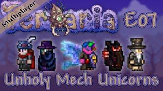 terraria 1 3 multiplayer expert mode ep 07 unholy mech unicorns