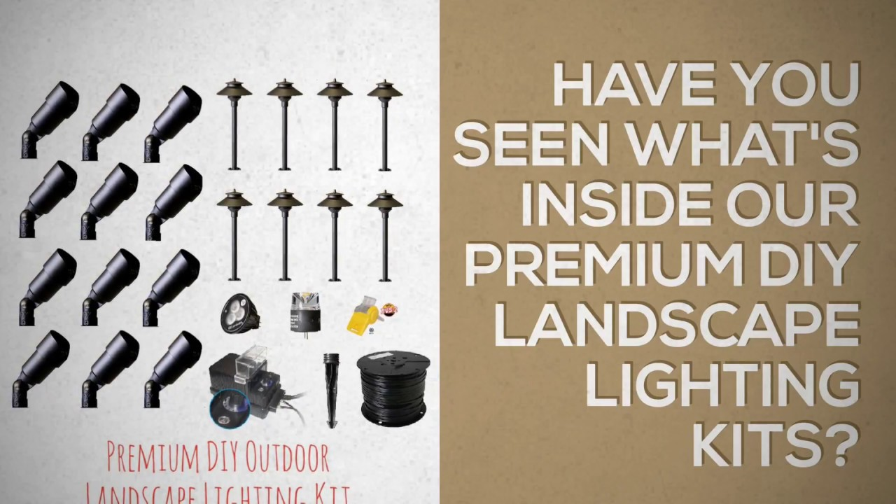 Do It Yourself Low Voltage Landscape Lighting Kits