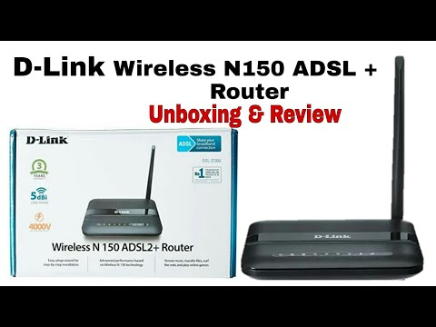 D - Link Wireless N150 ADSL2+Router Unboxing and Full Review , D-Link WiFi Router Configuration