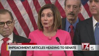 Impeachment articles heading to Senate