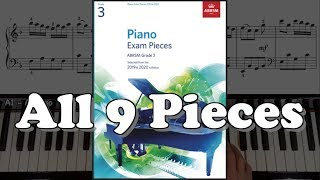 Gambar cover ABRSM Grade 3 Piano (2019 & 2020): All 9 Pieces