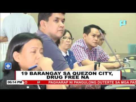 19 barangay sa Quezon City, drug free na