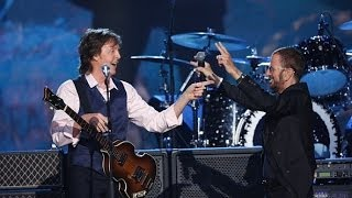 paul mccartney and ringo starr perform the beatles special 50th anniversary ed sullivan show re