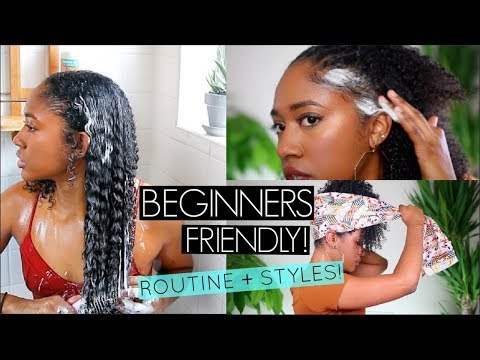 SLAYING INTO 2019!🔥Easy Curly Hairstyles + Natural Hair Wash Routine (Beginner's Friendly)