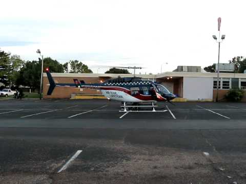 Air Evac 7 landing and takeoff