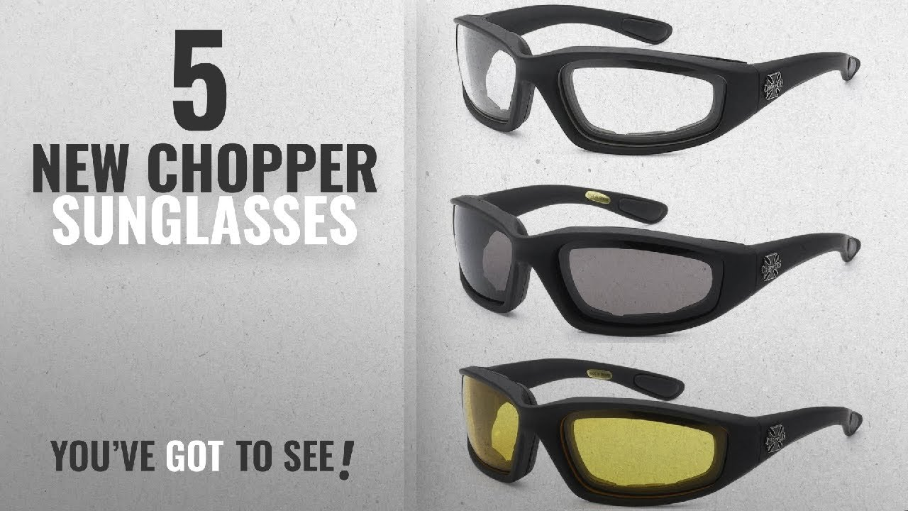 9d896779ee Top 10 Chopper Sunglasses   Winter 2018    3 Pairs of Choppers Glasses  Padded Frame Clear Yellow