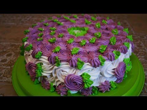 Оформление бисквитного торта в домашних условиях фото