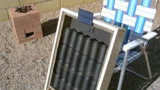 Solar Air Heater - DIY solar thermal furnace - 150F+ Temps. (beer/soda/pop can heater) - full vid.