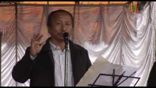 Nepali poet Shravan Mukarung reciting his poetry during KMS Kavita Concert