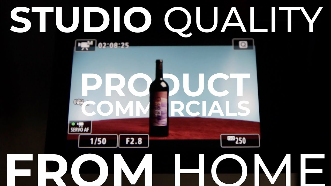 Less than $250 for Everything You Need to Shoot Studio Quality Product Commercials at Home