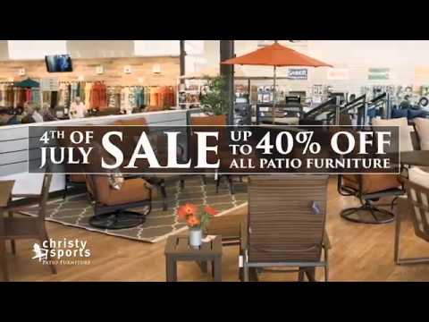 Christy Sports Patio - 4th of July Sale - YouTube
