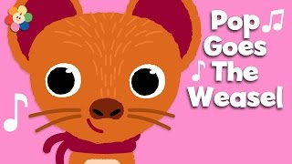 Pop Goes the Weasel with Lyrics | Music Videos | BabyFirst TV