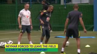 Neymar limps out of Brazilian football team
