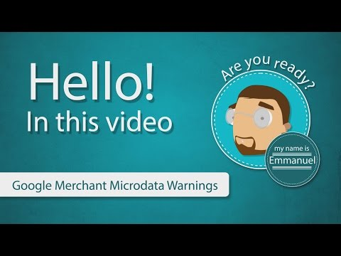 Google Merchant Microdata Warnings