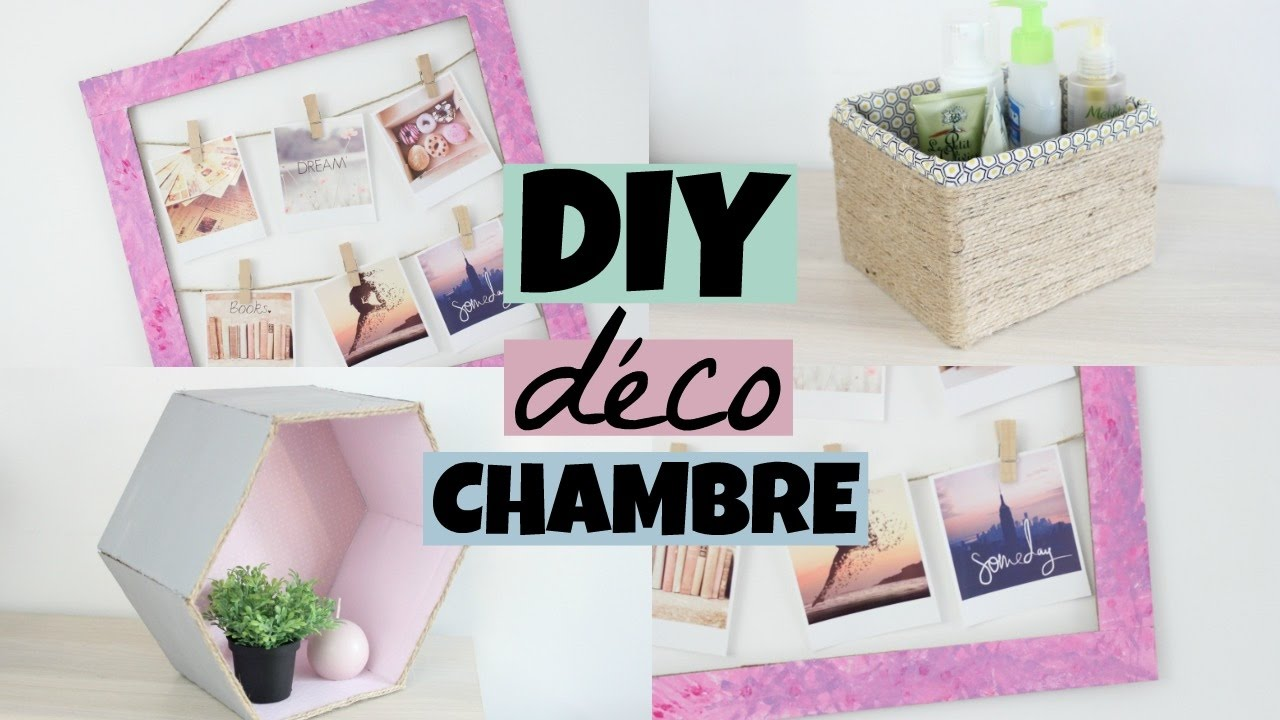 3 diy d co pour la chambre youtube. Black Bedroom Furniture Sets. Home Design Ideas
