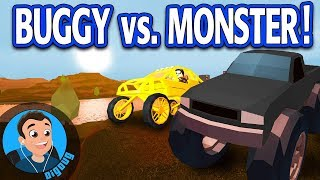 Roblox Jailbreak Monster Truck vs. Dune Buggy with MyUsernamesThis!!