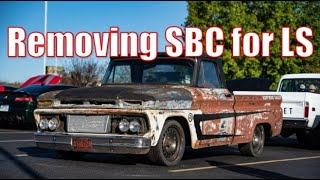 LS Swap BEGINS!!! 1966 GMC C10 - Stanley - Episode 2