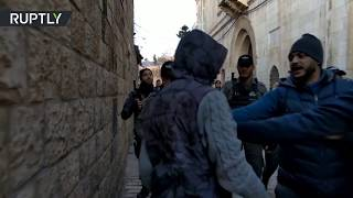 Israeli forces storm al-Aqsa Mosque & clash with worshippers