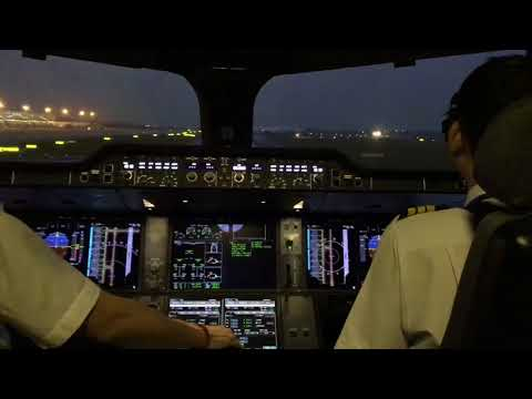 Vietnam airlines A350 cockpit view TAXI & TAKE OFF Nội Bài Airport