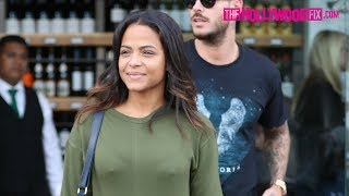 Christina Milian Reacts To The Untimely Passing Of Kim Porter With Her Boyfriend In Beverly Hills