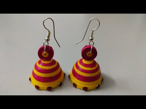 Quilling Earring Making | How to make Quilling earring jhumka earring | Festival Jhumkas