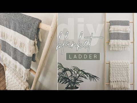 Quick + Easy DIY Wooden Blanket Ladder