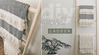 Quick + Easy DIY Wooden Blanket Ladder