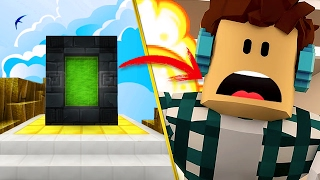 HOW TO MAKE A PORTAL TO THE DIMENSION OF ROBLOX IN MINECRAFT