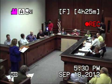 2012-09-18 Mt. Sterling, KY City Council Meeting - (Part 1 of 5)