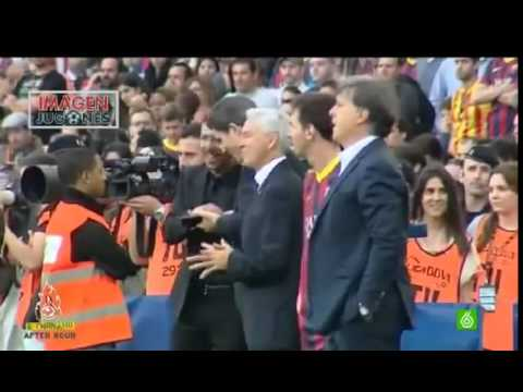 Messi and Tata Martino refused to congratulate Atletico Madrid players after their La Liga triumph