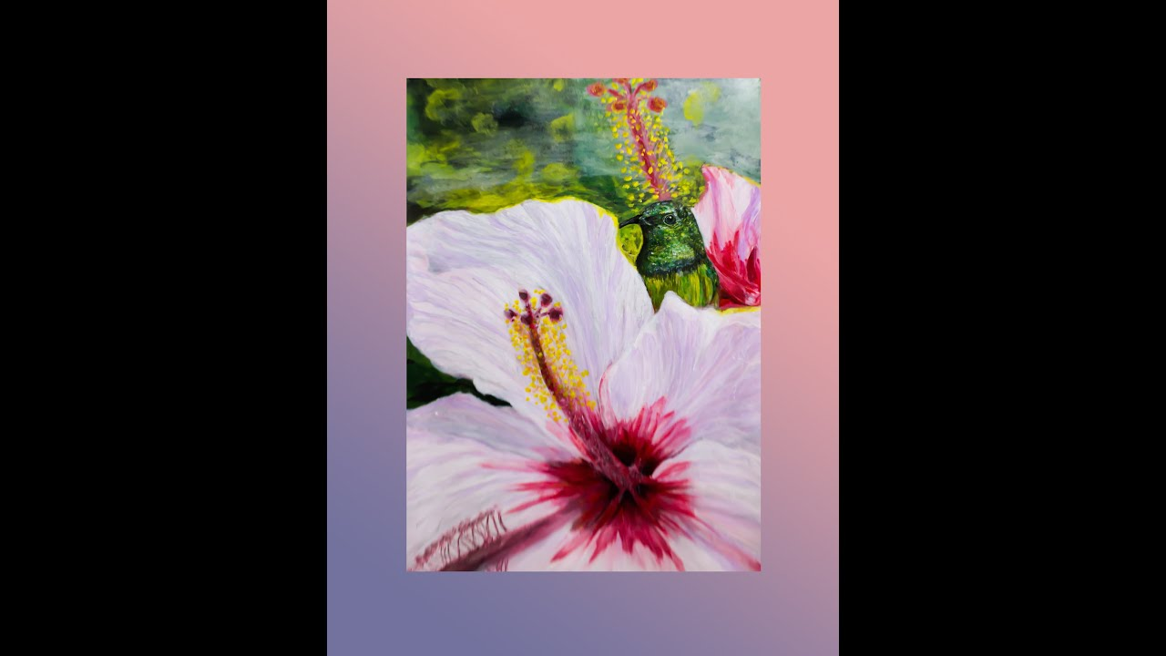 Tranh vẽ chim ruồi   hummingbirds   Art   Thung Lung Bắc Sơn   Thạch Sanh Snake
