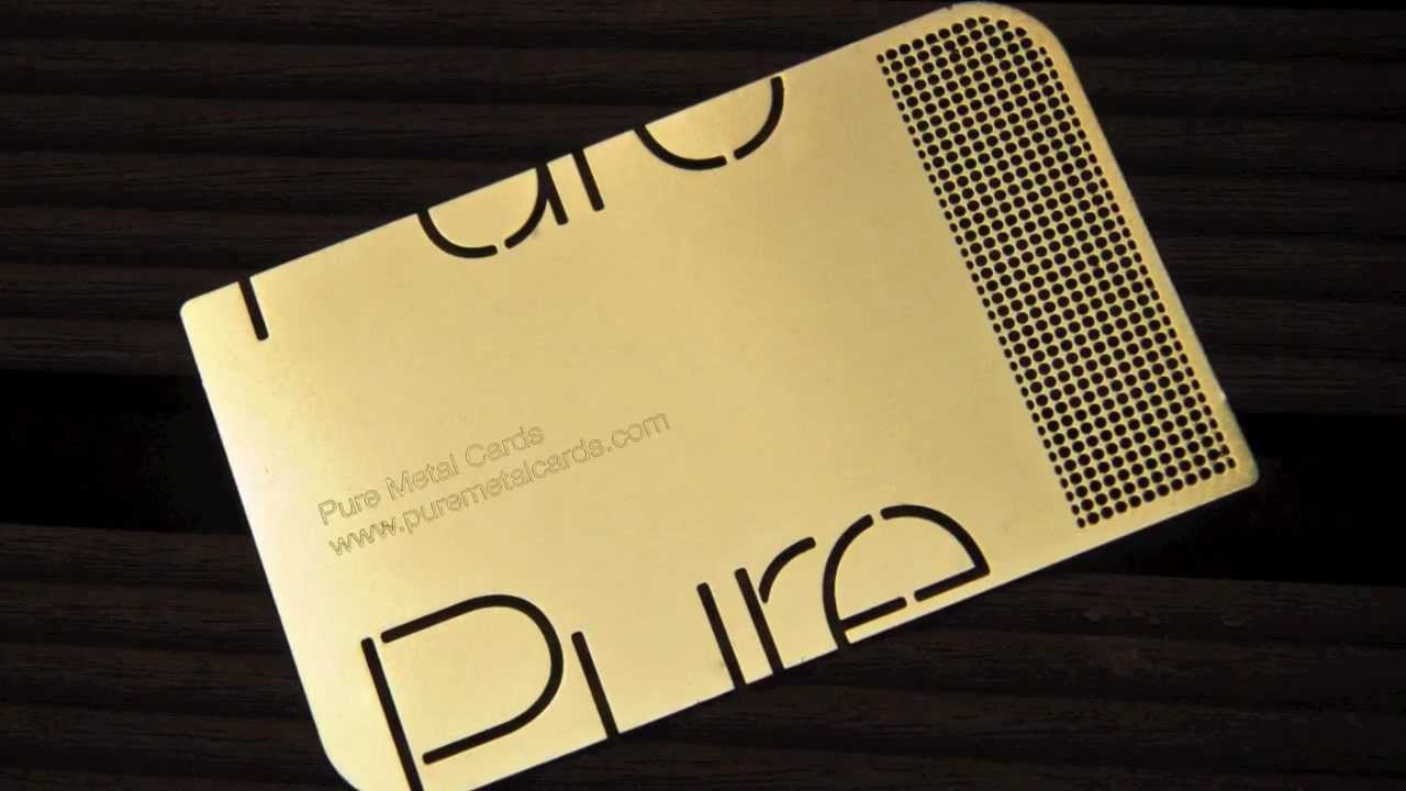 Pure Metal Cards - Metal Business Cards | Design using Brass - YouTube