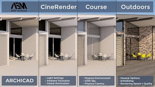 CineRender Course Outdoors in ARCHICAD