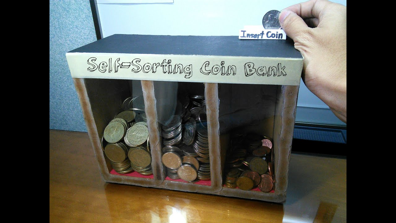 diy self sorting coin bank youtube. Black Bedroom Furniture Sets. Home Design Ideas