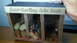 DIY Self-sorting Coin Bank
