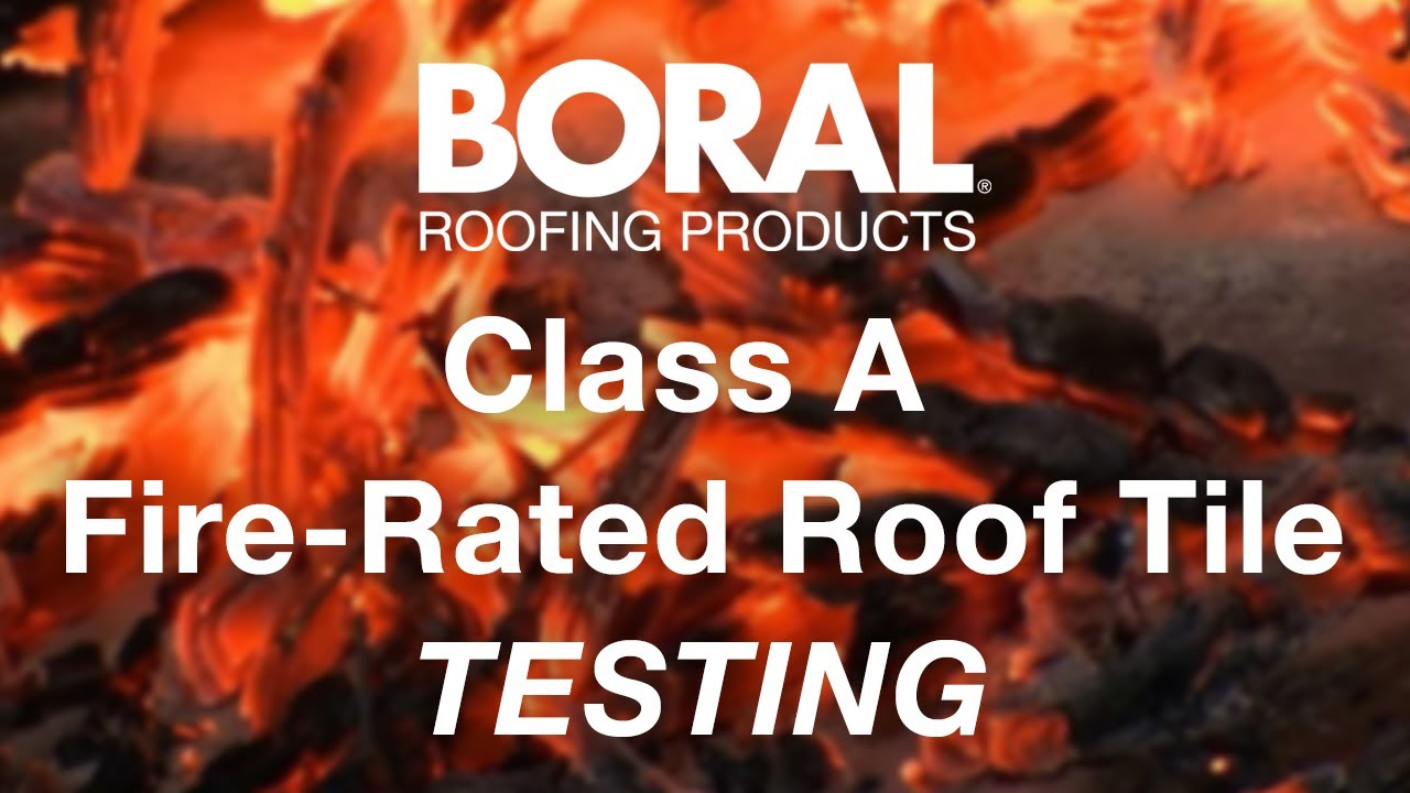Boral roofing class a fire rated roof tile youtube for Fire resistant roofing