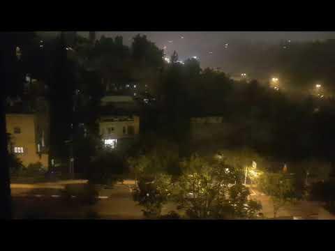 Heavy Rain In Israel🇮🇱, Jerusalem 1st November 2020