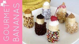 Gourmet (chocolate Dipped, Filling Stuffed) Banana Bites