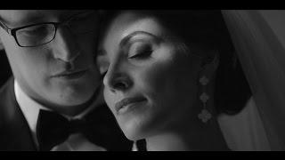 чёрно-белый свадебный клип